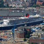 Blohm + Voss Hamburg June 2016 Queen Mary 2 QM2 Cunard Elbe 17