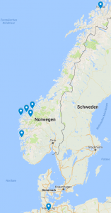 Norwegen Route 2 Nordkap