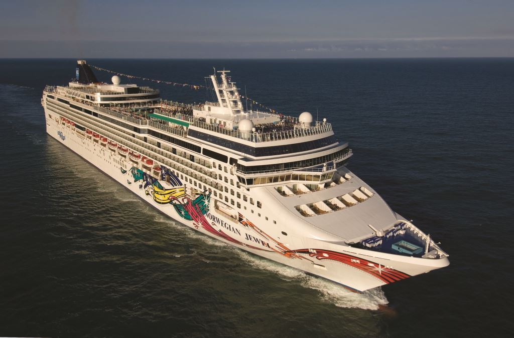 norwegian cruise line Aerial Norwegian Jewel