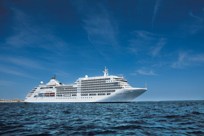 Silversea schiff von der seite