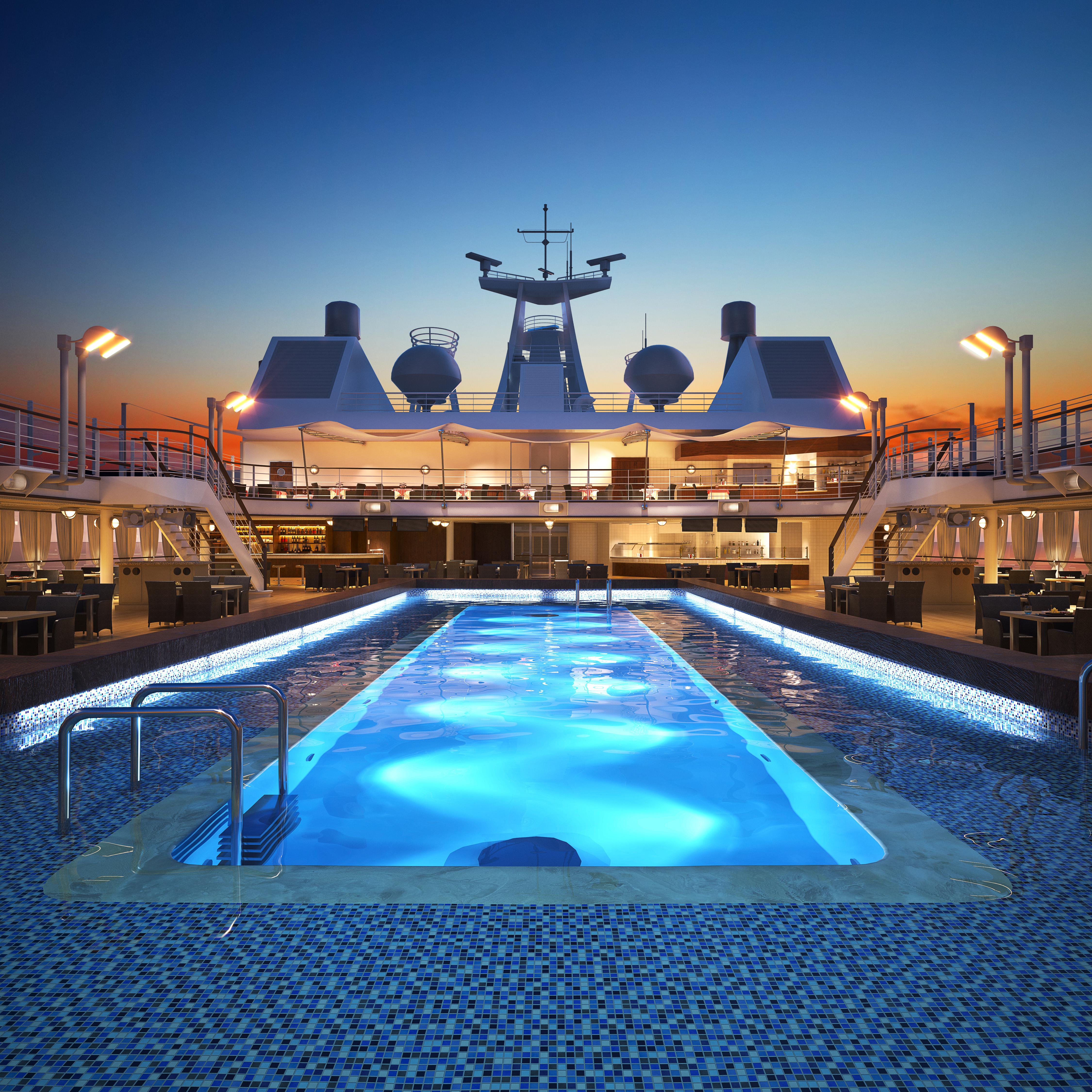 silversea pool auf dem deck