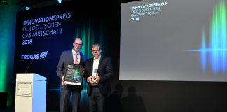 AIDA erhaelt Innovationspreis der deutschen Gaswirtschaft 2018